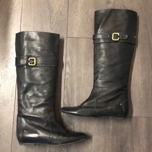 Chloe Black Tall Boots with Buckle, size 39